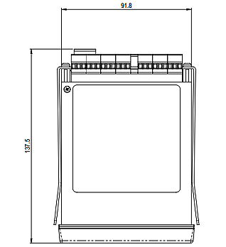digital panel meter plan view